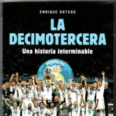 Coleccionismo deportivo: LA DECIMOTERCERA REAL MADRID UNA HISTORIA INTERMINABLE + 2 DVD. Lote 187082487