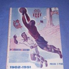 Coleccionismo deportivo: PROGRAMA BOLETIN DE LA HISTORIA DE LA COPA 1902-1951 F.C.BARCELONA REAL MADRID ESPAÑOL ETC. Lote 190376281