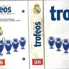 Coleccionismo deportivo: ALBUM COLECCION DE 80 FICHAS DE LA SALA DE TROFEOS DEL REAL MADRID INCLIDOS LOS DE BALONCESTO DE AS. Lote 191464796