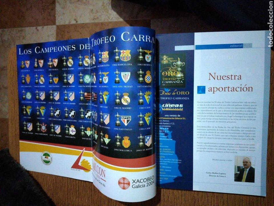 Coleccionismo deportivo: Bodas de oro del trofeo Carranza 1955-2004 Cádiz Club Futbol - Foto 2 - 277278633