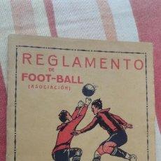 Coleccionismo deportivo: REGLAMENTO DE FOOT-BALL.ASOCIACION.FUTBOL.ENSEÑANZA PRACTICA.ANIS DEL TAUP.JOSE GERMÁ.SABADELL. Lote 192111508