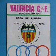 Coleccionismo deportivo: FUTBOL - PROGRAMA OFICIAL COPA DE EUROPA - 20 OCTUBRE 1971, VALENCIA C.F.- UJPEST DOZSA S.C. HUNGRIA. Lote 193020013