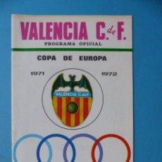Coleccionismo deportivo: FUTBOL - PROGRAMA OFICIAL COPA DE EUROPA - 15 SEPT 1971, VALENCIA C.F.- KLUB HAJDUK SPLIT YUGOSLAVIA. Lote 193020313