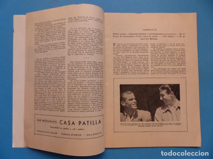 Coleccionismo deportivo: PUCHADES VALENCIA C.F. - BIOGRAFIA DE UN FUTBOLISTA VALENCIANO POR JOSE MARIA ARRAIZ - AÑO 1959 - Foto 4 - 193056510