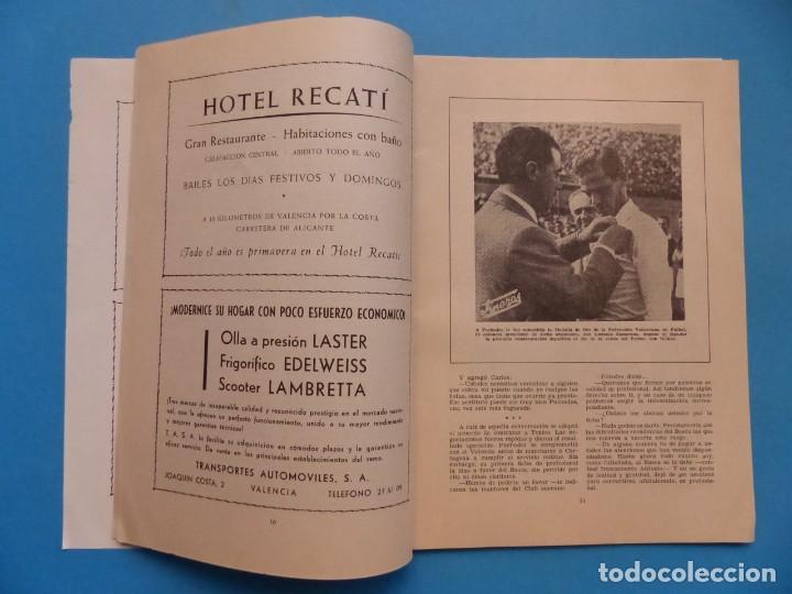Coleccionismo deportivo: PUCHADES VALENCIA C.F. - BIOGRAFIA DE UN FUTBOLISTA VALENCIANO POR JOSE MARIA ARRAIZ - AÑO 1959 - Foto 7 - 193056510