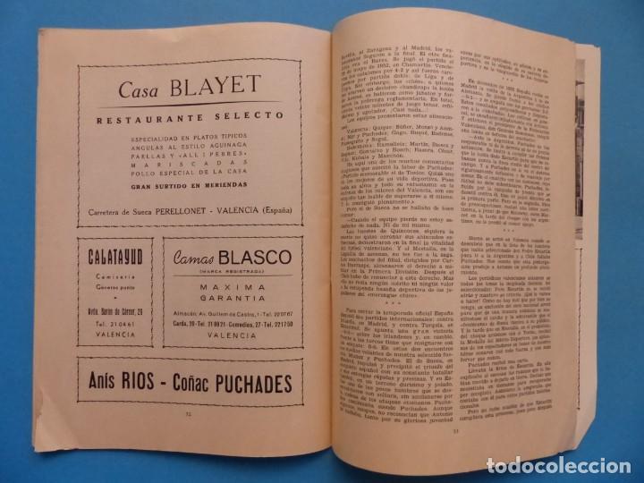 Coleccionismo deportivo: PUCHADES VALENCIA C.F. - BIOGRAFIA DE UN FUTBOLISTA VALENCIANO POR JOSE MARIA ARRAIZ - AÑO 1959 - Foto 19 - 193056510