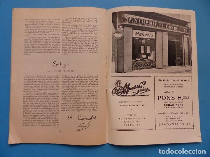 Coleccionismo deportivo: PUCHADES VALENCIA C.F. - BIOGRAFIA DE UN FUTBOLISTA VALENCIANO POR JOSE MARIA ARRAIZ - AÑO 1959 - Foto 21 - 193056510