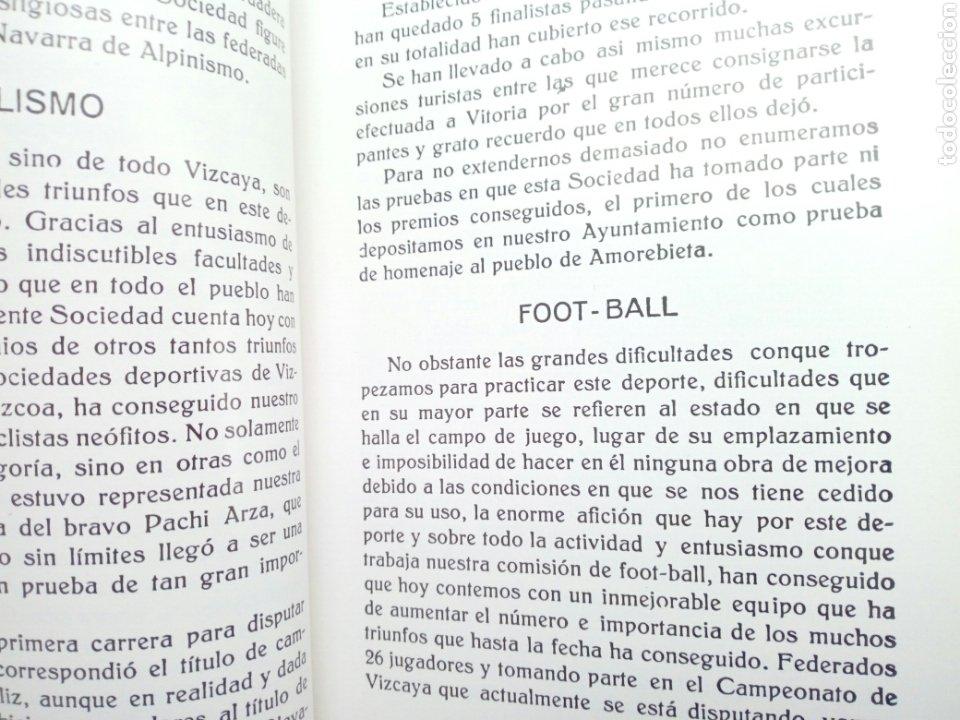 Coleccionismo deportivo: Libro: BODAS DE ORO DE LA SOCIEDAD DEPORTIVA AMOREBIETA 1925 - 1975 (SDA) - Foto 5 - 194116268