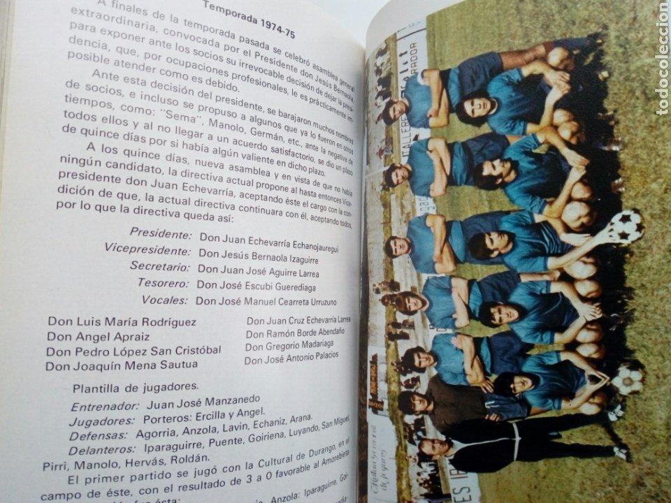 Coleccionismo deportivo: Libro: BODAS DE ORO DE LA SOCIEDAD DEPORTIVA AMOREBIETA 1925 - 1975 (SDA) - Foto 8 - 194116268