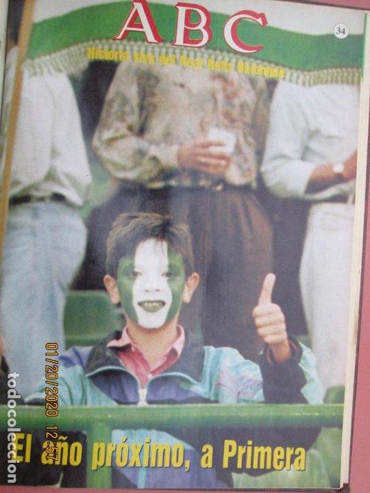 Coleccionismo deportivo: HISTORIA VIVA DEL REAL BETIS BALOMPIÉ - 1907-1993 - ABC 1992. - Foto 5 - 194190761