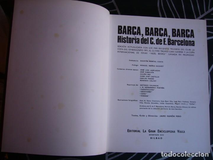Coleccionismo deportivo: HISTORIA DEL C.F. BARCELONA 1971 . 416 PÁGINAS - Foto 4 - 194268291