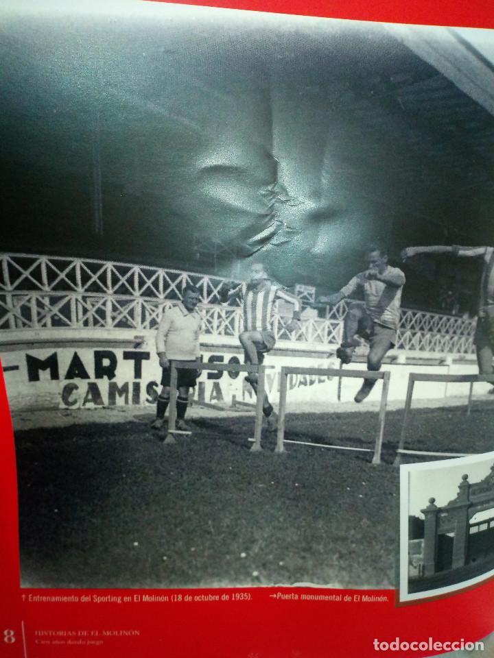 Coleccionismo deportivo: 162-HISTORIAS DEL MOLINON, 100 años dando juego, Real Sporting De Gijon, - Foto 5 - 194733053