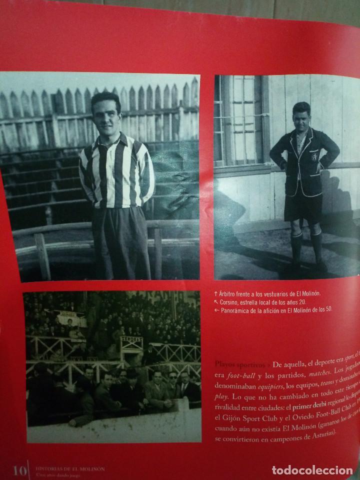 Coleccionismo deportivo: 162-HISTORIAS DEL MOLINON, 100 años dando juego, Real Sporting De Gijon, - Foto 6 - 194733053