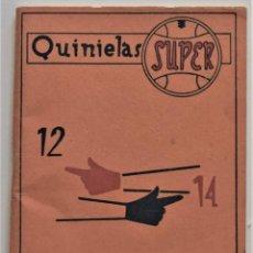 Coleccionismo deportivo: VENTANA DEL QUINIELISTA SISTEMA DEL 13-14 - MIGUEL MONTEAGUDO AGUIRRE - AÑO 1961. Lote 195111372