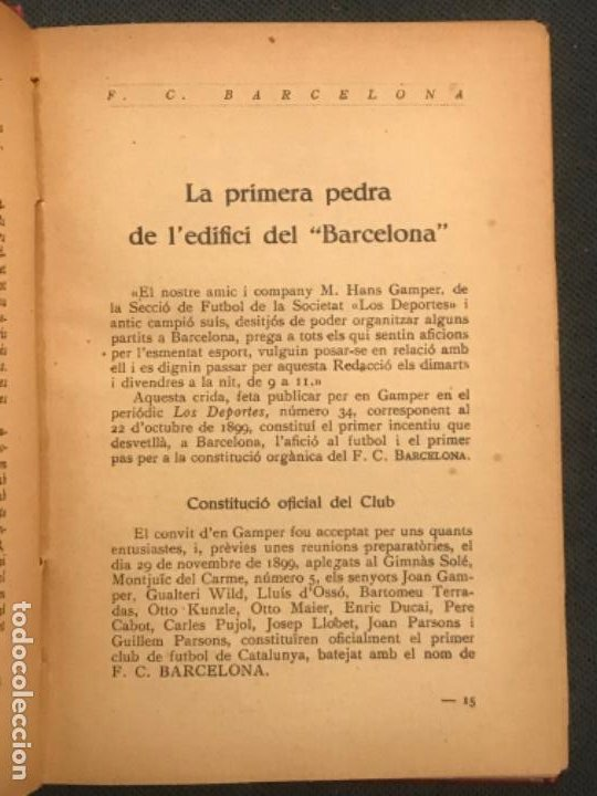 Coleccionismo deportivo: NOCES DARGENT DEL F.C. BARCELONA. 1899-1924. DANIEL CARBO I SANTAOLARIA. 2 VOLUMS. BARCELONA 1924. - Foto 4 - 195118325