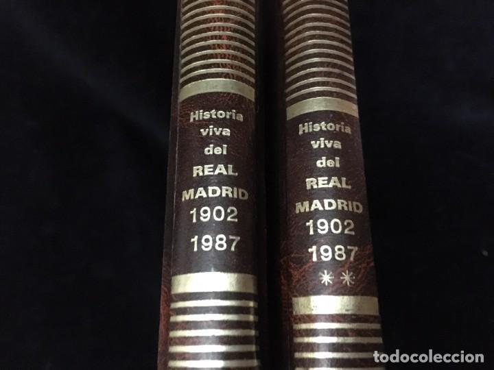 Coleccionismo deportivo: Historia viva del Real Madrid ( 1902-1987 ). Coleccionable ABC completo y encuadernado - Foto 2 - 195353321