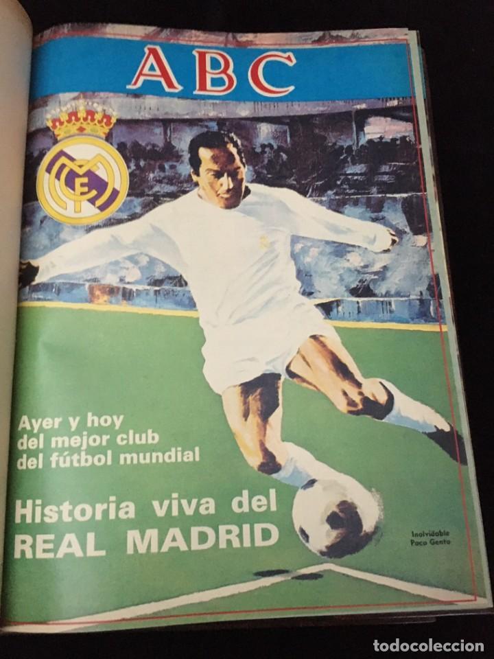 Coleccionismo deportivo: Historia viva del Real Madrid ( 1902-1987 ). Coleccionable ABC completo y encuadernado - Foto 4 - 195353321
