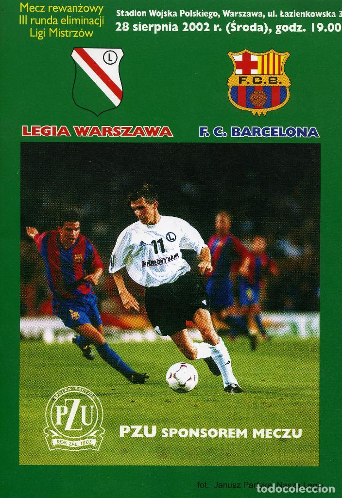 PROGRAMA LEGIA - F.C. BARCELONA (Coleccionismo Deportivo - Libros de Fútbol)
