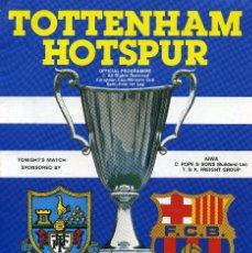Coleccionismo deportivo: PROGRAMA RECOPA DE EUROPA 1982 TOTTENHAM HOTSPUR - BARCELONA. Lote 195354567