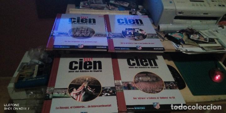 COLECCIÓN CIEN AÑOS DEL ATLÉTICO DE MADRID COMPUESTA POR CUATRO TOMOS - DIARIO AS - (Coleccionismo Deportivo - Libros de Fútbol)