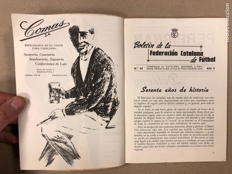 Coleccionismo deportivo: HOMENAJE DE CATALUÑA, ANDORRA Y PIRINEOS ORIENTALES AL CLUB DE FÚTBOL BARCELONA 1960. - Foto 2 - 195976205