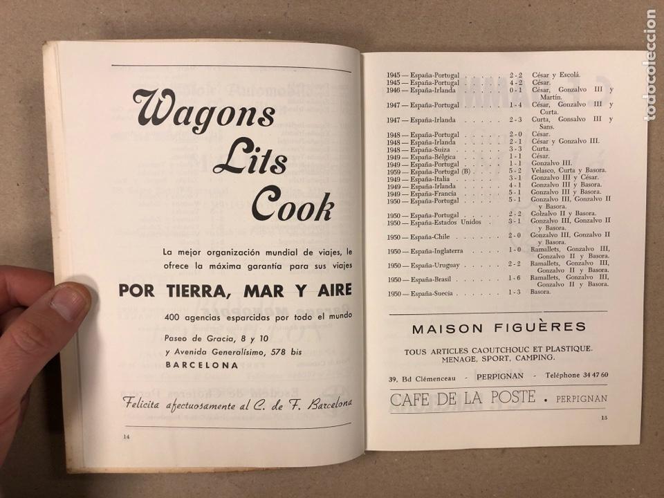 Coleccionismo deportivo: HOMENAJE DE CATALUÑA, ANDORRA Y PIRINEOS ORIENTALES AL CLUB DE FÚTBOL BARCELONA 1960. - Foto 3 - 195976205
