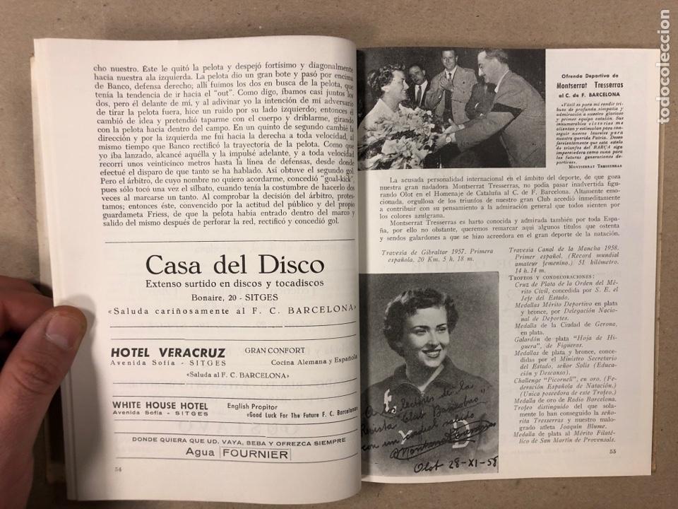 Coleccionismo deportivo: HOMENAJE DE CATALUÑA, ANDORRA Y PIRINEOS ORIENTALES AL CLUB DE FÚTBOL BARCELONA 1960. - Foto 5 - 195976205