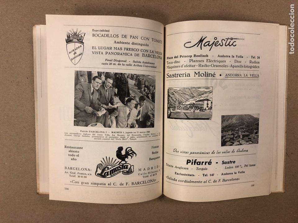 Coleccionismo deportivo: HOMENAJE DE CATALUÑA, ANDORRA Y PIRINEOS ORIENTALES AL CLUB DE FÚTBOL BARCELONA 1960. - Foto 9 - 195976205