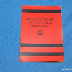 Coleccionismo deportivo: FC BARCELONA - REGLAMENT DEL FUTBOL CLUB BARCELONA JUNTA GENERAL CELEBRADA 1920. Lote 196190520