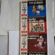 Coleccionismo deportivo: COLECCIÓN PELOTAZOS DE KAP - COMPLETA 4 Nº (TIRO AL BLANCO+COSAS DEL BARÇA..) MUNDO DEPORTIVO. Lote 198056357