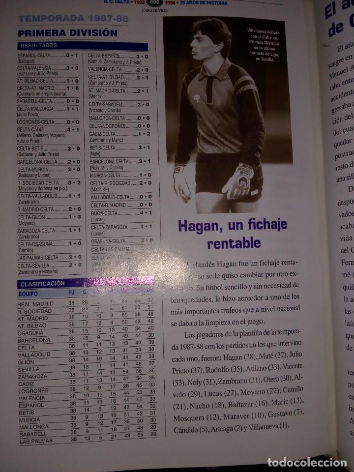 Coleccionismo deportivo: FERNANDO GALLEGO ARZUAGA. R. C. Celta. 1923-1998. 75 Años de Historia. RM78120. - Foto 9 - 71228727