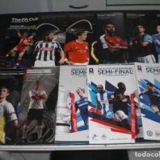 Coleccionismo deportivo: COLECCION 10 PROGRAMAS SEMIFINALES FA CUP INGLATERRA (VER RELACIÓN Y FOTOS) . Lote 199051281