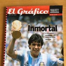 Coleccionismo deportivo: MARADONA. NUMERO ESPECIAL EL GRAFICO. 154 PAGS. INCREIBLES FOTOS. VER FOTOS. Lote 199645168