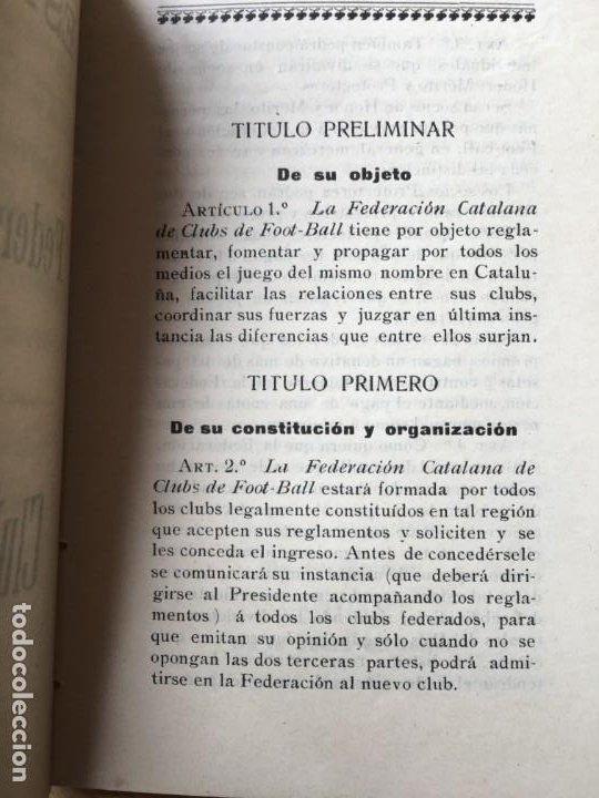 Coleccionismo deportivo: (M) LIBRO FEDERACIÓN CATALANA DE CLUBS DE FOOT-BALL, BARCELONA PRINCIPIOS S.XX, MUY RARO - Foto 2 - 200520467