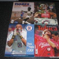Coleccionismo deportivo: LOTE 4 LIBROS FÚTBOL MÉXICO (TIGRES, CHIVAS GUADALAJARA, CRUZ AZUL, TOLUCA) . Lote 200803447