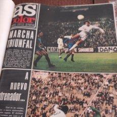 Coleccionismo deportivo: AS EN COLOR ENCUADERNADO N 185 1974 HASTA EL NÚMERO 210 1975. Lote 201107403