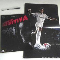 Coleccionismo deportivo: LA BÚSQUEDA DEFINITIVA CÓMIC DE KAKÁ REAL MADRID FÚTBOL BIOGRAFÍA PÓSTER - FUTBOLISTA ADIDAS ZENTNER. Lote 201215785
