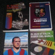 Coleccionismo deportivo: LOTE 4 LIBROS FC BARCELONA (VER TÍTUILOS). Lote 202305037