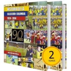 Colecionismo desportivo: SELECCION COLOMBIA FUTBOL DOS LIBROS TOMOS FORMATO GRANDE DE LUJO NUEVO SELLADO. Lote 203001003