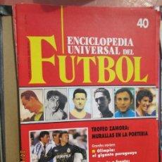 Collectionnisme sportif: ENCICLOPEDIA UNIVERSAL DEL FUTBOL Nº 42 - CONTRAPORTADA POSTER REAL AVILES INDUSTRIAL -91-92. Lote 203915680