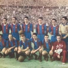 Coleccionismo deportivo: REVISTA FUTBOL CLUB CF BARCELONA BARÇA LIBRO PORTADAS COLOR AÑOS 50 EQUIPO JUGADORES FICHAS KUBALA. Lote 206551048