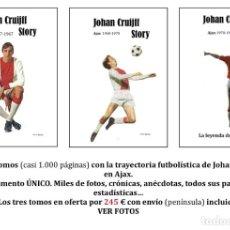 Coleccionismo deportivo: CRUYFF STORY. CRUIJFF. AJAX 47-73. 3 LIBROS, CASI 1000 PÁGINAS. ENVÍO INCLUIDO (E). VER 50 FOTOS.. Lote 207496916
