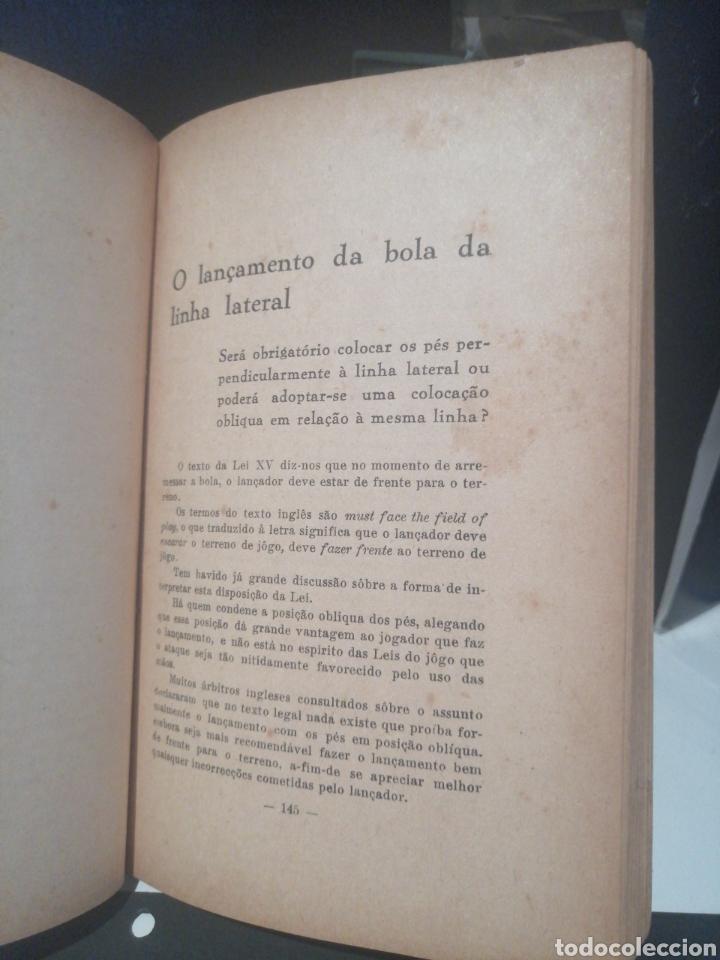 Coleccionismo deportivo: Libro FUTEBOL Divulgacion de sus Leyes Año 1948 - Foto 4 - 208452527
