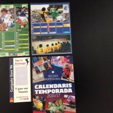 Coleccionismo deportivo: LOTE CALENDARIOS DE LIGA DE FUTBOL Y BASQUET AÑOS 1984 A 2017. Lote 209418285