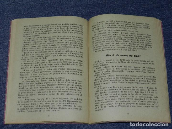 Coleccionismo deportivo: (M) FC BARCELONA - MEMÓRIA CONSELL DIRECTIU FC BARCELONA ASSEMBLEA GENERAL 1931 - Foto 2 - 210301687