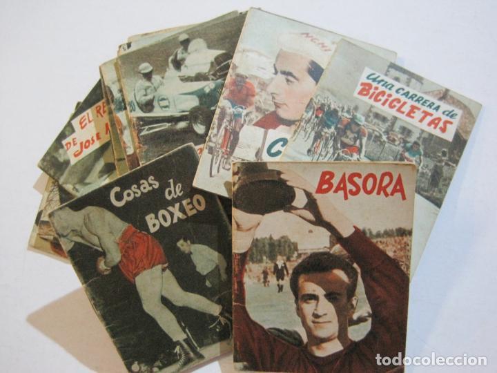 LOTE DE 18 MINI LIBROS DEPORTIVOS DE LA EDITORIAL FHER-BASORA-GAINZA-CICLISMO..-VER FOTOS-(V-21.195) (Coleccionismo Deportivo - Libros de Fútbol)