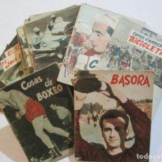 Coleccionismo deportivo: LOTE DE 18 MINI LIBROS DEPORTIVOS DE LA EDITORIAL FHER-BASORA-GAINZA-CICLISMO..-VER FOTOS-(V-21.195). Lote 211427692