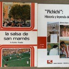 Coleccionismo deportivo: PICHICHI, HISTORIA Y LEYENDA DE UN MITO Y LA SALSA DE SAN MAMES. 2 LIBROS COLECCIÓN TEMAS VIZCAÍNOS. Lote 211521940