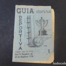 Coleccionismo deportivo: GUIA DEPORTIVA 1959 RESULTADOS DE LOS PARTIDOS DE FUTBOL. Lote 211635821