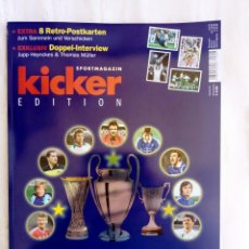 "Coleccionismo deportivo: KICKER. ""60 JAHRE EUROPAPOKAL"". Lote 212174466"